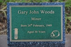 Woods Plaque: 20-July-2015