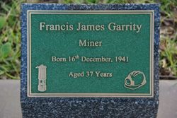 Garrity Plaque: 20-July-2015
