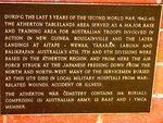 Atherton War Cemetery Plaque