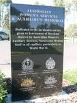 Australia Women`s Services & Auxiliary`s Memorial