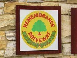 Remembrance Driveway Logo