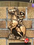 Australian Light Horse Memorial Wall Horseman Closeup