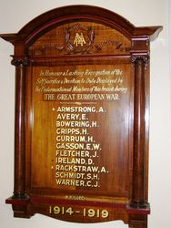 Australian Natives Association Honour Roll