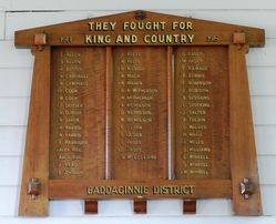 Baddaginnie District Honour Roll