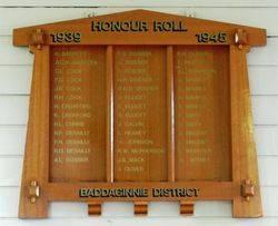 Baddaginnie District Honour Roll