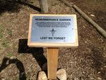 Bannockburn Remembrance Garden Plaque : 27-09-2013