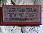 Chifley Cave Plaque Inscription : November 2013