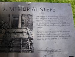 Memorial Steps Plaque : 23-October-2014