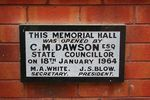 Memorial Hall Plaque : June 2014
