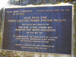 Hydro Electric Plaque : 03-November-2014