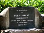 Bob Stephens Inscription