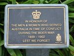 Boer War Plaque : 14-October-2012