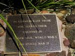 Boer War  WW1 + WW2 Plaque