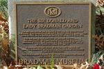 Bradman Garden Plaque : August-2014