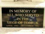 Brisbane Rats of Tobruk Memorial Inscription