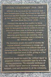 ANZAC Centenary Plaque : 16-March-2015