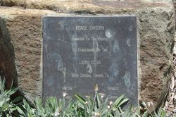 Peace Garden Plaque : 16-March-2015