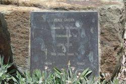 Peace Garden Plaque : 16-March-2015