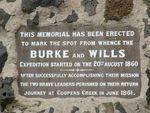 Burke + Wills Memorial