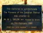 Cabarlah Pioneers Bicentennial Memorial Dedication Plaque