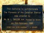 Cabarlah Pioneers Bicentennial Memorial Dedication Plaque