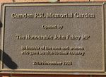 Memorial Rose Garden Inscription Plaque : 16-June-2014