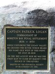 Captain Logan  Plaque