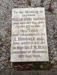 Bacchus Memorial Tablet : October 2013