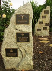 Memorial Plaques; 23-April-2015
