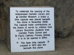Other Time Capsules Plaque : 10-May-2015