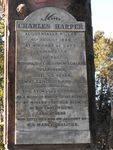 Charles Harper Inscription