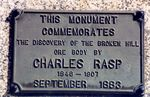 Charles Rasp Memorial  Inscription