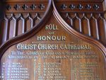 Christ Church Cathedral WW1 Honour Roll