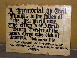 Cecil Thomas Memorial : 31-August-2014 (Sandra Brown)