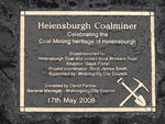 Coalminer Dedication Plaque
