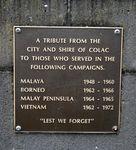 Colac War Memorial : 18-February-2012