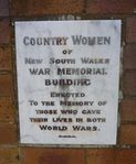 Country Women of New South Wales War Memorial Building : 15-December-2012