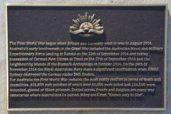 WW1 Plaque: 15-July-2015