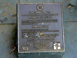 Lyons Plaque -2007