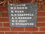 Methodist Memorial Wall Trustees Plaque: March 2014