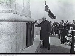 11-October-1964 : Unveiling by Prime Minister Robert Menzies (AWM: 135390)