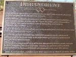 Disbandment Plaque