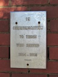 WW1 Inscription : 26-March-2015