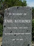 Earl Kitchener Inscription