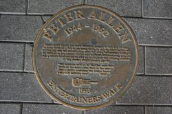 Peter Allen Plaque 1993 : September-2014