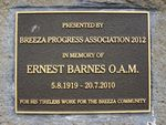 Ernest Barnes Plaque Inscription : 16-August-2014