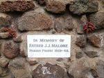 Father J.J. Malone Inscription : December 2013