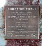 Federation Avenue : 21-July-2012