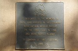 First Fleet Plaque Inscription : September-2014