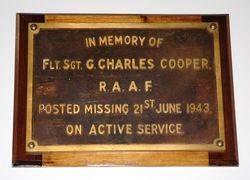 Flight Sergeant G. Charles Cooper